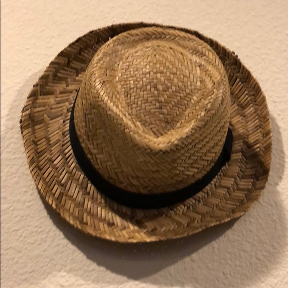 Forever 21 Accessories - Woven straw hat black ribbon